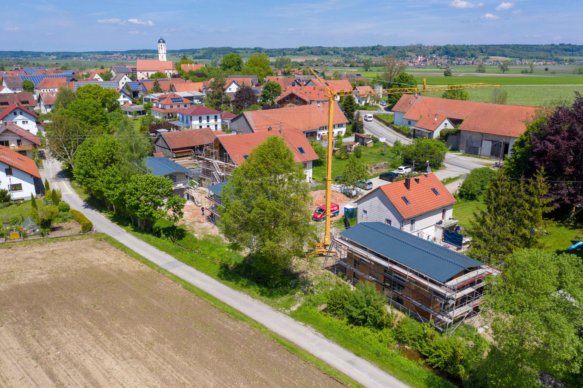 Umbau eines Bauernhofes_Luftbild2